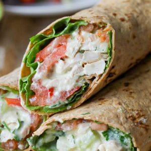 Avocado Reach Chicken Salad Wrap